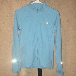 Blue The North Face Full Zip Vaporwick Jacket